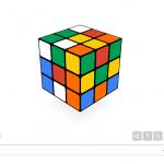 本日のGoogleトップがルービックキューブ!